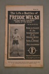 The Life And Battles Of Freddie Welsh Former 1914 to 1917 World Lightweight Champion SCARCE Illustrated Booklet
