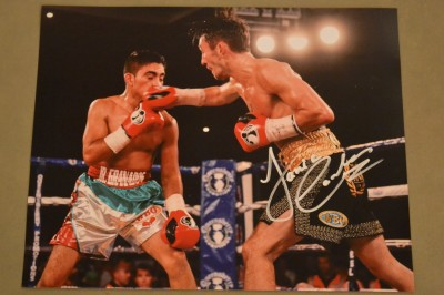 Jamie Conlan aka The Mexican And The Irish Gatti SIGNED Action Shot Photo Against Junior Granados