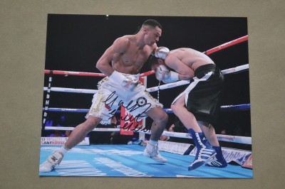 MANCUNIAN Marcus Morrison One Of The Most Exciting Talents In British Boxing SIGNED Action Shot Photo