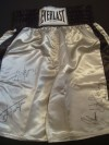 Sylvester Stallone And Joe Frazier Also Thomas Hearns MULTI SIGNED Everlast Trunks