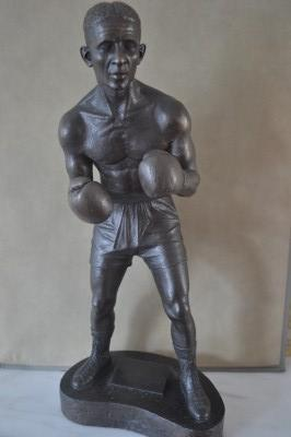 Randolph Turpin Former 1951 Middleweight World Champion Special Limited Edition Gold Cast Bronze Statue