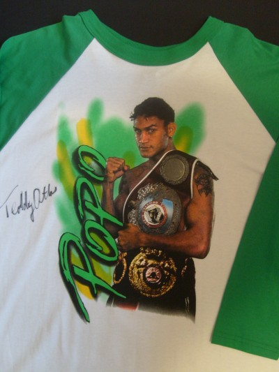 Teddy Atlas SIGNED Acelino Freitas Official Merchandise Tee Shirt