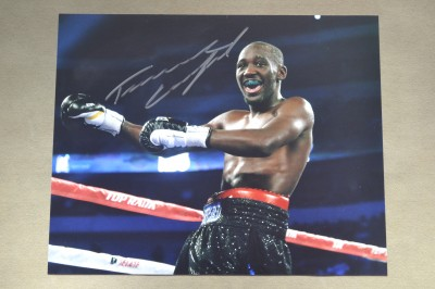 Terence Crawford Two Weight And Current Unified Light Welterweight World Champion SIGNED Victory Celebration Photo