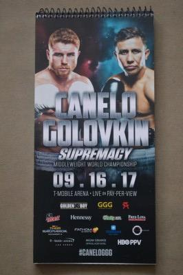 Saul Canelo Alvarez vs Gennady GGG Golovkin Unified WBA WBC IBF Plus Ring Magazine And Lineal Middleweight Championship Official Journalists Note Pad