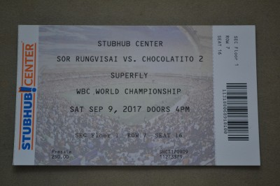 SUPERFLY Triple Header Featuring Sor Rungvisai vs Chocolatito And Cuadras vs Estrada Plus Inoue vs Nieves Official Ringside Ticket