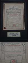 Randolph Turpin Of Leamington Boys Club ORIGINAL 1944 ABA Junior 9st 7lbs Champion Winners Certificate