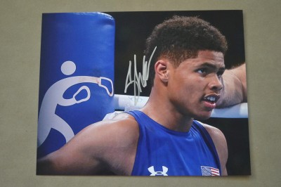 Dubbed THE NEXT MAYWEATHER By Floyd Mayweather Jr Himself Shakur Stevenson Olympic Silver Medallist SIGNED Rio 2016 Action Shot Photo