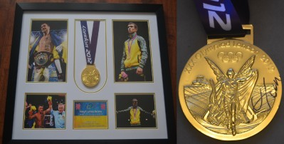 Vasyl Lomachenko 2x Olympic Gold Medallist And 3 Weight World Champion In Just 12 Pro Fights SIGNED London 2012 Commemorative Olympic Gold Medal