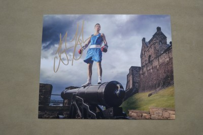 Edinburghs Josh Taylor THE TARTAN TORNADO Undefeated Pro Light Welter SIGNED Publicity Photo Before Winning The Glasgow Commonwealth Games Gold Medal