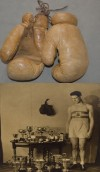 Decorated Amateur Hugh Pat Floyd 4x ABA Heavyweight Champion 1929 1934 1935 And 1946 Competition Fight Worn Gloves