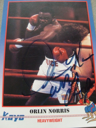 Orlin Norris SIGNED Kayo Series Photo Card