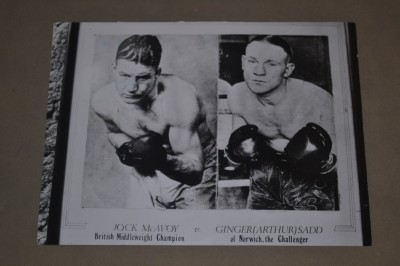 Jock McAvoy vs Arthur Ginger Sadd British And Commonwealth Middleweight Title Original Press Photo