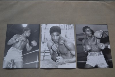 3 Original Errol Christie Press Photos Published To Promote His Fight With Mark Kaylor Which Was Marred With Controversy Due To A Pre Fight Punch Up