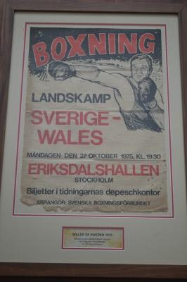 RARE Johnny Owen Defeated Ove Hallman Representing Wales vs Sweden Original 1975 Amateur Swedish Boxing Poster