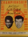 Emile Griffith SIGNED Official Onsite Programme vs Brian Curvis
