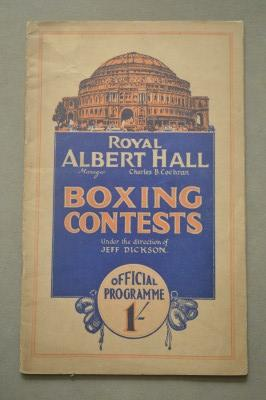 Jackie Brown vs Midget Wolgast 1933 Bantamweight Contest Official Onsite Programme