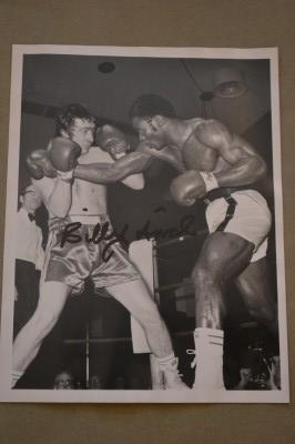 Liverpools Heavyweight Nearly Man A European And Twice British Title Challenger SIGNED Original Action Shot Press Photo Against Ngozika Ekwelum