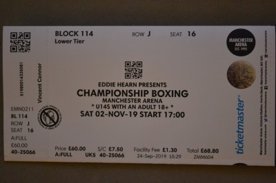 FAREWELL Anthony Crolla Former WBA Lightweight World Champion Takes To The Ring For The Final Time Official Onsite Ticket
