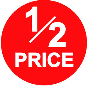 ALL ITEMS ACROSS ALL CATEGORIES HALF PRICE