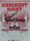 Roger Mayweather vs Joe Rivera Official Onsite Programme INSCRIBED By Mayweather