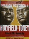Evander Holyfield vs James Toney Official Onsite Programme