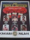 Thomas Hearns and Roberto Duran DUAL SIGNED Original Onsite Triple Hitter Poster