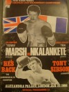 Terry Marsh vs Tek Nkalankete European Light Welterweight Title Official Onsite Programme also Featuring Tony Sibson and SIGNED By Jim Watt