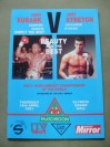 Chris Eubank vs Gary Stretch WBO Middleweight Championship of The World Official Onsite Programme