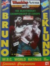 Frank Bruno vs Anders Eklund European Heavyweight Title Official Onsite Programme also Featuring Lloyd Honeyghan