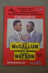 Mike McCallum vs Michael Watson Middleweight Championship of The World Official Onsite Programme Also Featuring Lennox Lewis