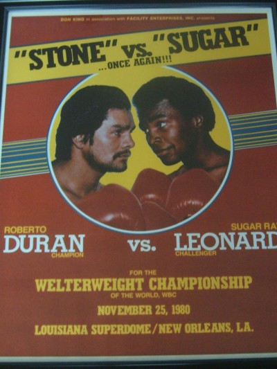 Roberto Duran vs Sugar Ray Leonard II PPV Fight Poster