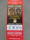 Sugar Ray Leonard vs Thomas Hearns I World Welterweight Championship Full Original Onsite Ticket