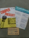 Henry Cooper vs Johnny Prescott Official Onsite Programme Plus Ticket and Song Sheets