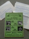 Henry Cooper vs Gawie De Klerk Heavyweight Commonwealth Title Official Onsite Programme plus Typed Journalist Fight Reports