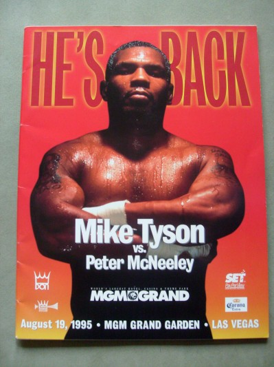 Mike Tyson vs Peter McNeeley Official Onsite Programme