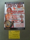 Michael Brodie vs Injin Chi I Official Onsite Programme SIGNED By Jamie Moore And James Hare Also Jim Watt Plus Ticket