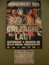 Joe Calzaghe vs Jeff Lacy Super Middleweight World Title Unification Official Onsite Programme Plus Ticket