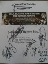 6 Page Undercard Fighter Bios MULTI SIGNED by All Contestants From The World Awaits