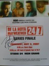 Trainer Freddie Roach SIGNED De La Hoya and Mayweather HBO Documentary Flyer