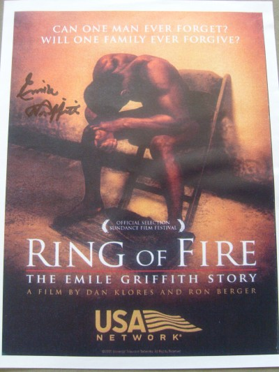 Emile Griffith SIGNED Ring of Fire Film Advertisement Flyer