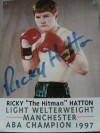 Ricky Hatton Early Career SIGNED Promotional Photo