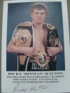 Ricky Hatton The Peoples Champion SIGNED Promotional Photo