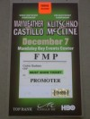 Floyd Mayweather Jr vs Jose Luis Castillo II Promoter Credential
