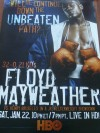 Floyd Mayweather Jr vs Henry Bruseles Limited Edition Fight Poster