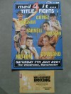 Ricky Hatton vs Jason Rowland Official Onsite Programme Plus Ringside Ticket