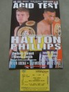 Ricky Hatton vs Vince Phillips Official Onsite Programme Plus Ticket