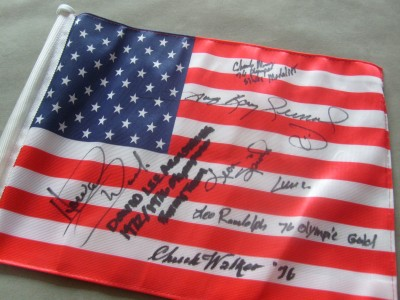 USA 1976 Olympic Boxing Team SIGNED Star Spangled Banner