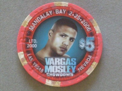 Fernando Vargas vs Shane Mosley I Mandalay Bay Commemorative Limited Edtition Gaming Chip