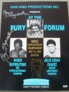 Roger Mayweather vs Julio Cesar Chavez II Official Onsite Programme SIGNED By Roger Mayweather