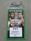 Joe Calzaghe vs Bernard Hopkins Official Media Credential